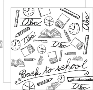 Back To School Party Invitations & Back To School Cards