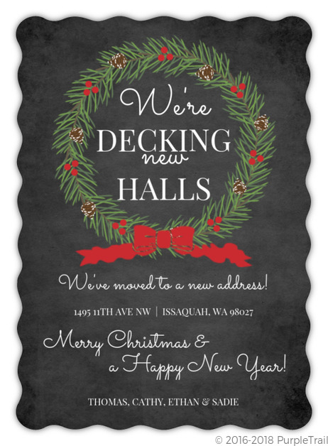 Decking New Halls Holiday Moving Announcements Holiday