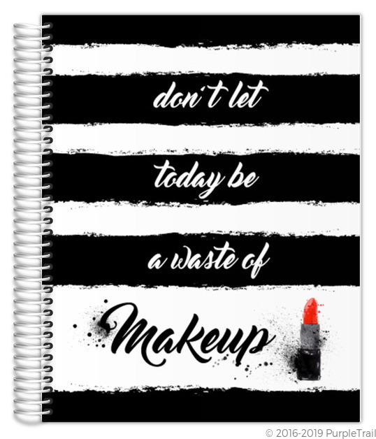 Black & White Makeup Mom Planner