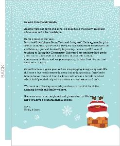 Elf Confetti Christmas Letter Insert Christmas Letter