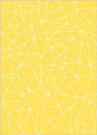 Lemon and Gray Triangular Modern Wedding Invitation ...