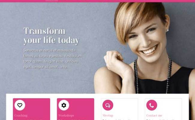 Life Coach Wordpress Theme Template For The Life Coach