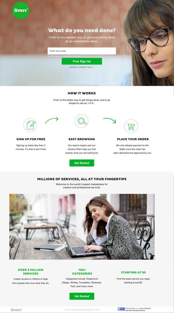 Fiverr Landing Page