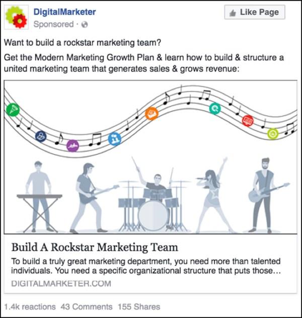 """The Modern Marketing Growth Plan"" Facebook ad"