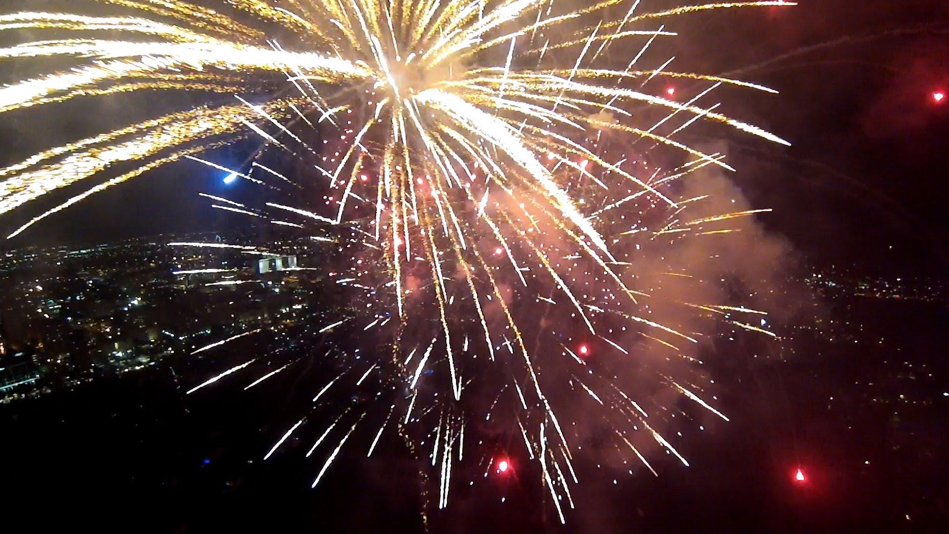 GoPro Drone Copter Video Shows Fireworks From Within