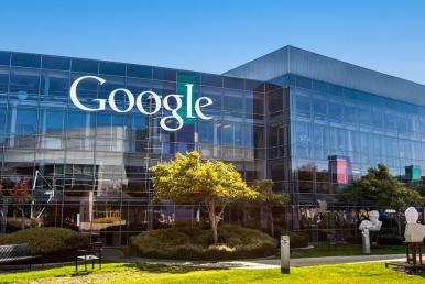 Leveling pay equity a picture of Google Headquarters