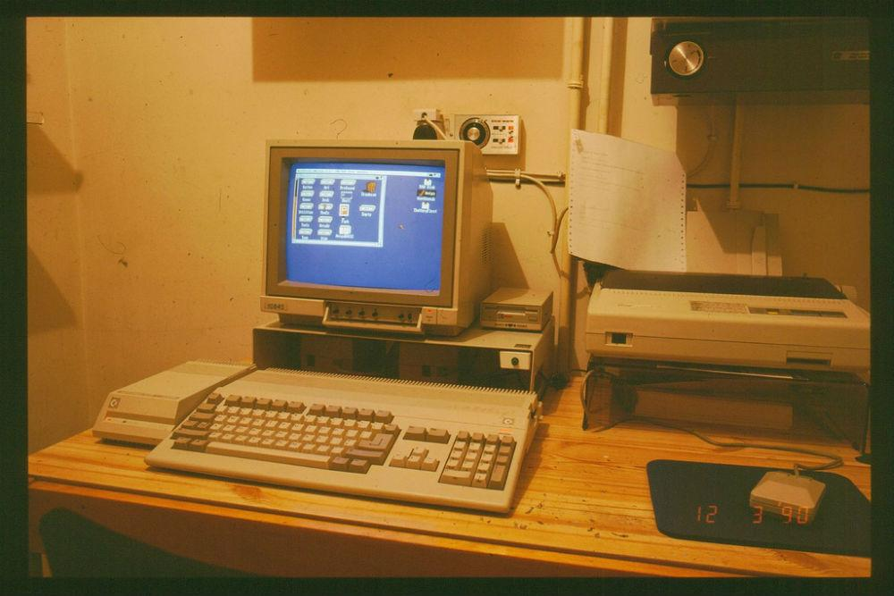 Theres a 30yearold Commodore Amiga still controlling