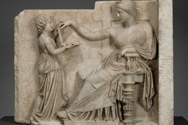 Conspiracy Theorists Ancient Greek Statue Depicts Laptop User