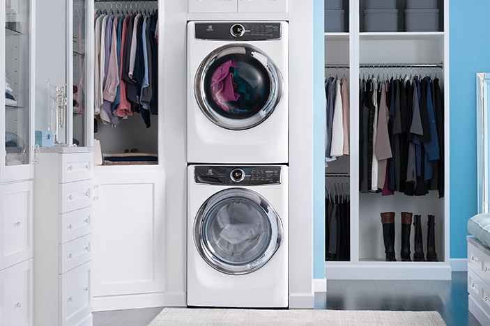 Image result for frontloading washer in laundry
