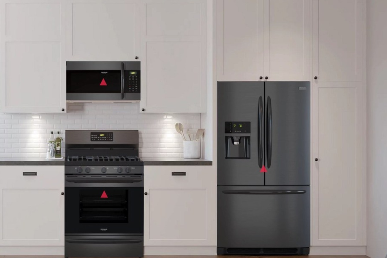 frigidaire kitchen appliances cabinets houston style your with frigidaires gallery black