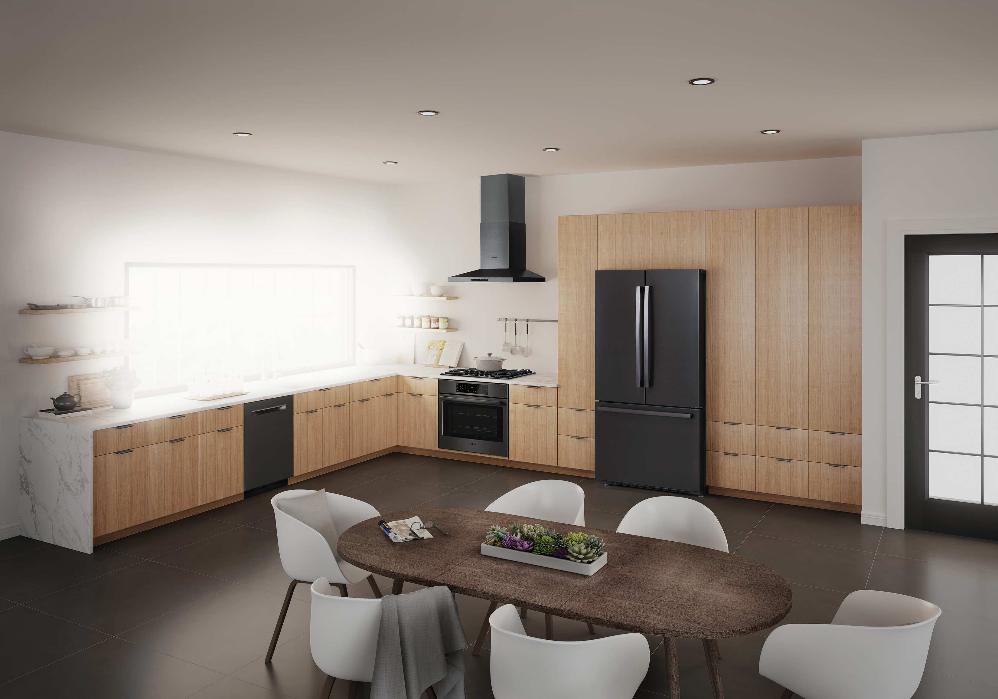Bosch S Black Stainless Steel Kitchen Suite Keeps Yours Sleek And Smudge Free