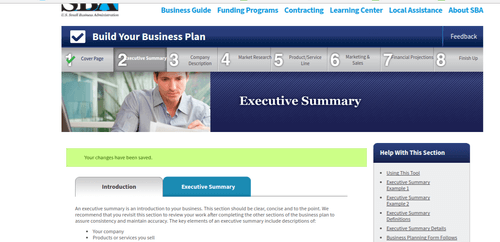SBA Build Your Business Plan