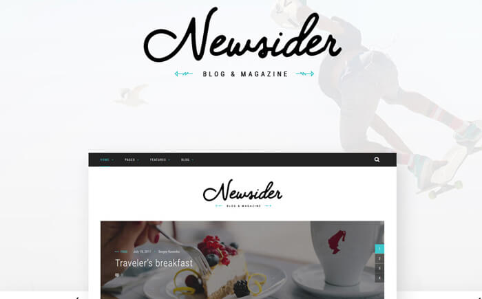 Newsider - Magazine & Blog Clean WordPress Theme