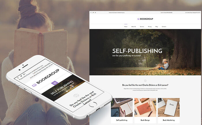 Publishing Company Responsive Moto CMS 3 Template