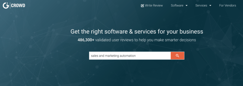 G2 crowd sales and marketing automation tools