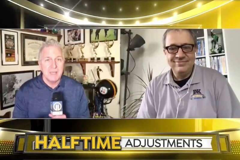 Photo of TV: DK on WPXI's 'Halftime Adjustments' with Alby Oxenreiter