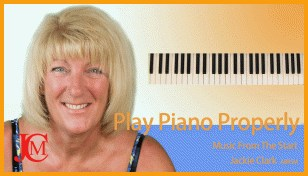 learning piano properly with music and piano support