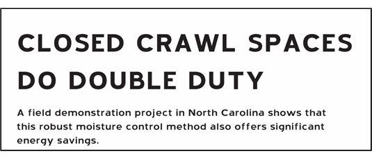 closed crawl spaces