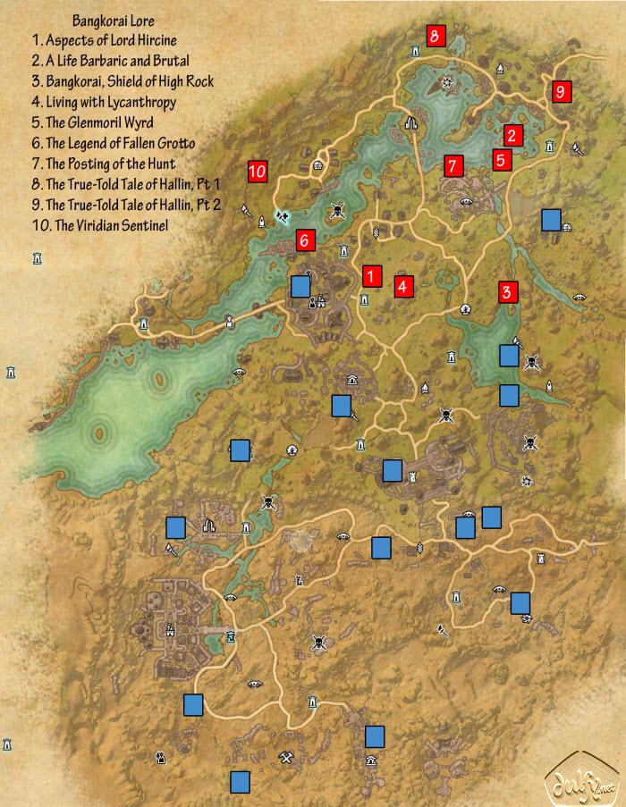 ESO Fashion   Antique Map of Bangkorai (Elder Scrolls Online)
