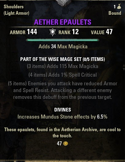 Eso 3 Piece Jewelry Sets : piece, jewelry, Aetherian, Archive, Trial, Guides,, Walkthroughs