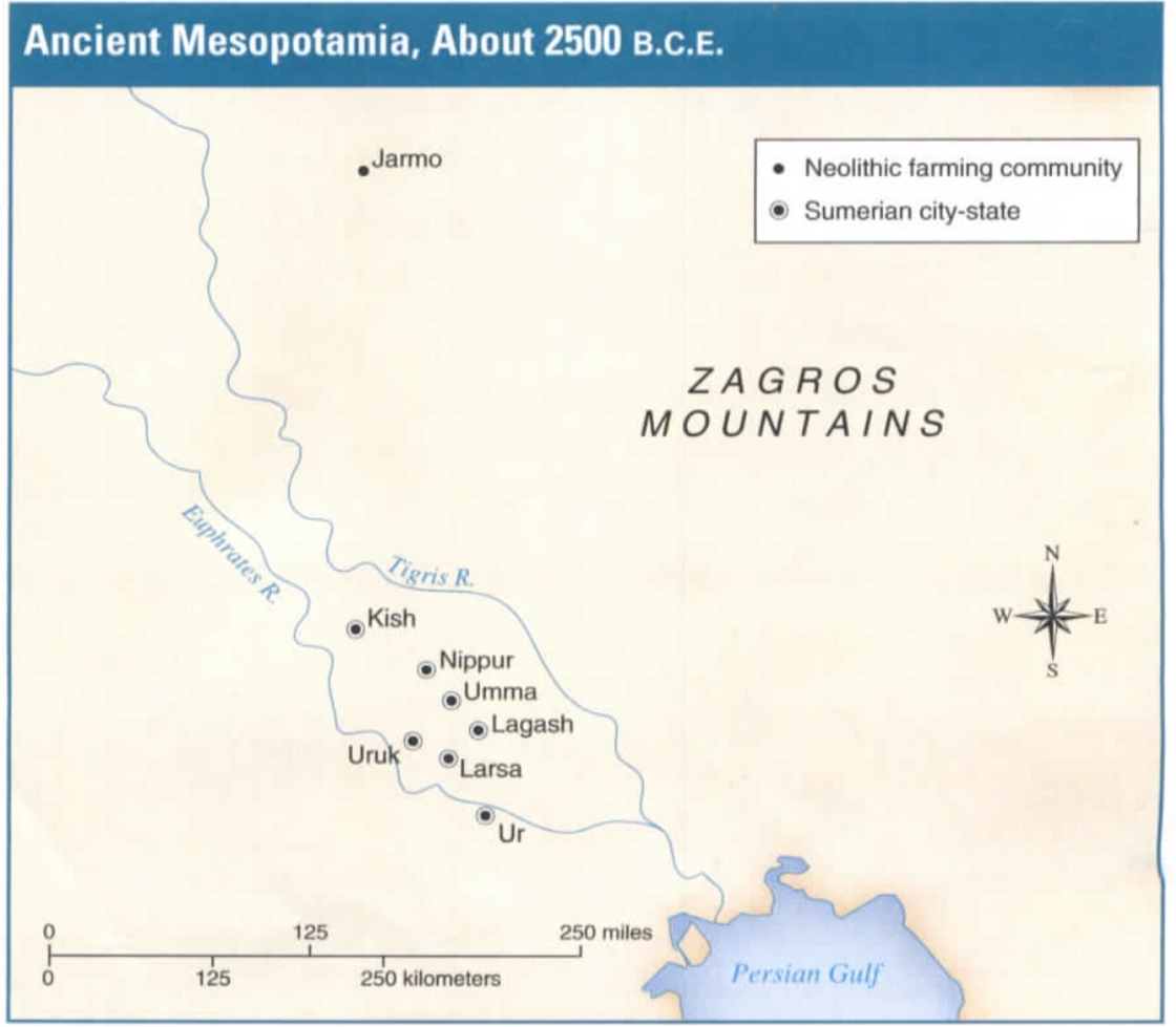 Ancient Mesopotamia Map Worksheet