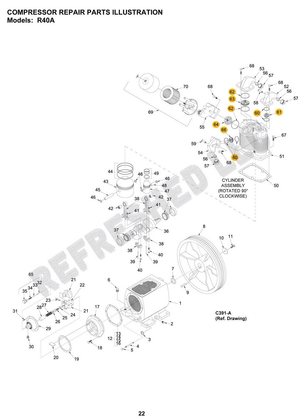 Champion Valve Kit Air Compressor Parts Z656 Vshok R40 CH