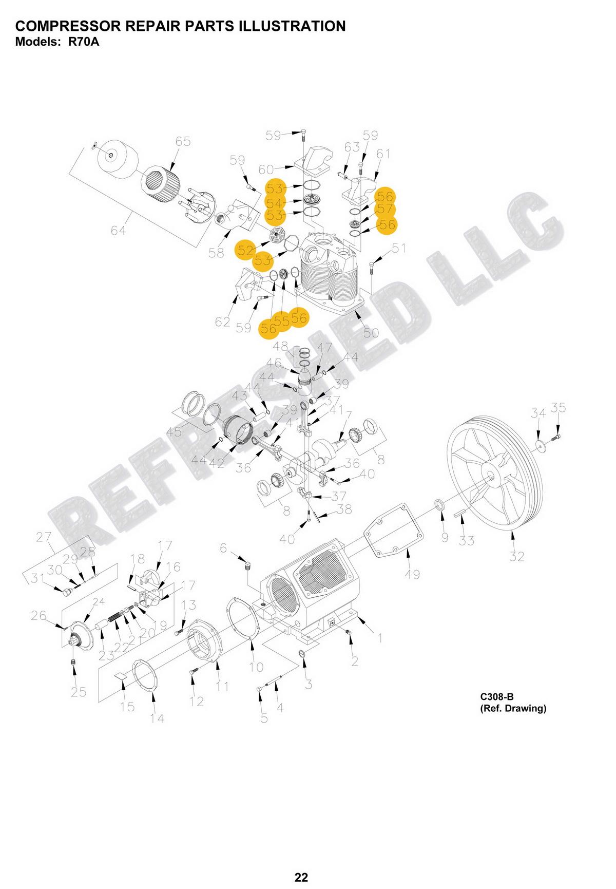 Champion GD Valve Kit Air Compressor Parts Z614 Vshok R70