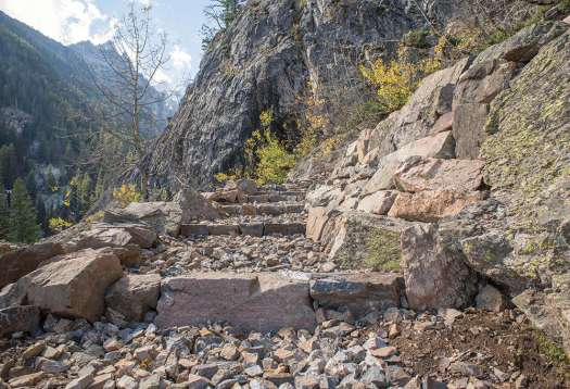 The work at Jenny Lake is entering its final phase and will be completed by the end of 2017.  Photo: Grand Teton National Park