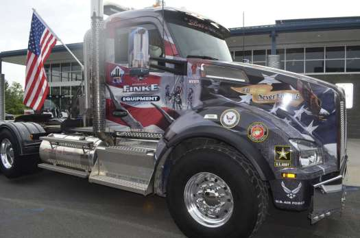 The Robert H. Finke 911 memorial truck greets visitors to the Snap-On Tools event.