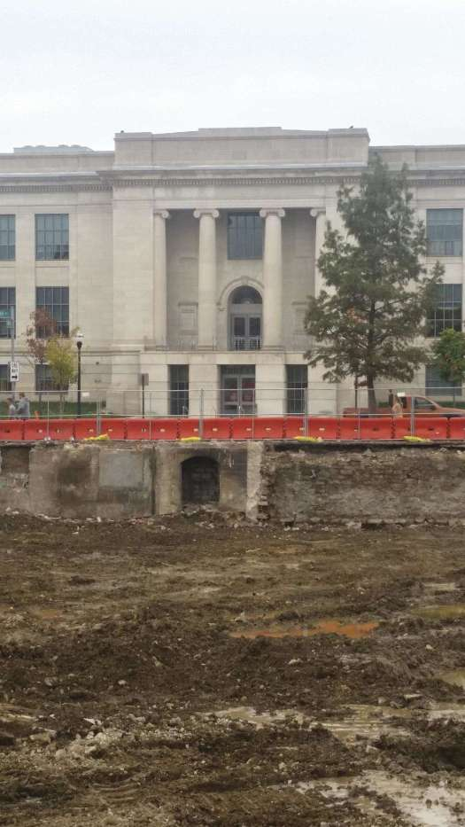 >Crews found the underground, arched door while working on a new entrance at 15th and High Streets as they demolished Long's Bookstore, the Columbus Dispatch reported. The door had been walled shut and seems to lead west beneath High Street and through OSU's campus.