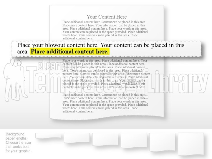 powerpoint tear sheet graphic