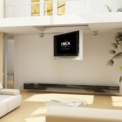Hiding Tv In Living Room Ideas With Light Gray Walls 9 Ways To Hide A Electronic House Inca Offers Different Hinged Designs Its Series Of Flat Screen Fold Down Ceiling Units You Can Have The Tuck Up Into Recessed Pocket