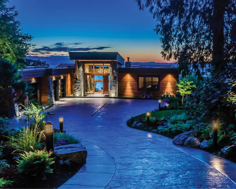 smart outdoor lighting electronic house