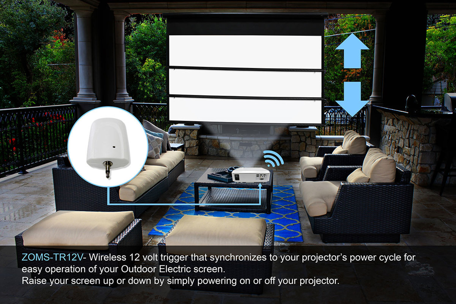 hight resolution of how to sync your projector and screen without any wires