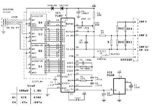 Construct 3 1/2 Digit LED Panel Meter Using Intersil 7107