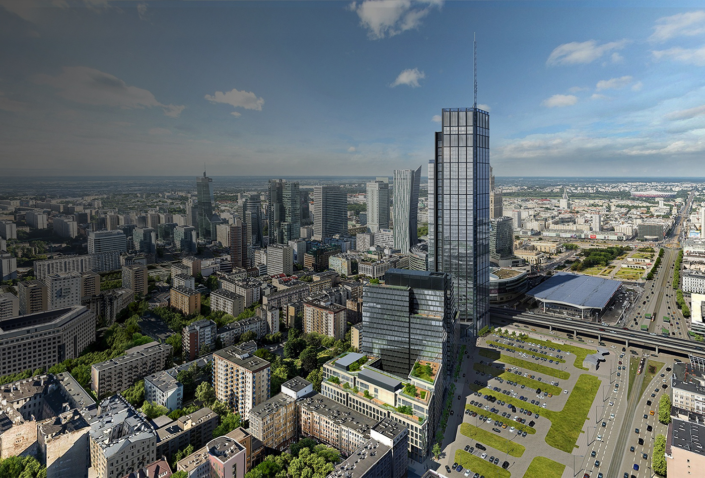 Warsaw  Varso Tower  310m  53s  HB Reavis  Foster  Partners  SkyriseCities