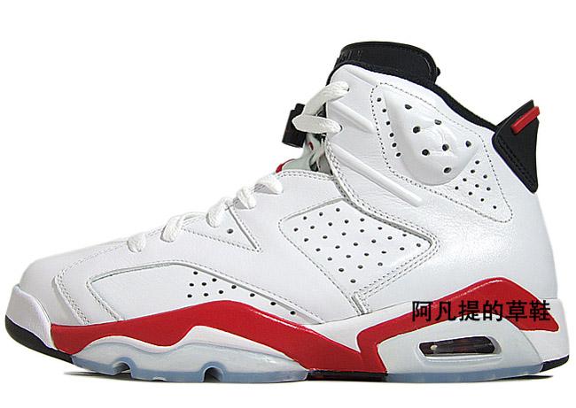 6 Jordan Air (vi) Rétro - Blanc / Rouge Fac - Noir très en ligne vente authentique se PROMOS vente au rabais sortie professionnelle U6uidvHAZ