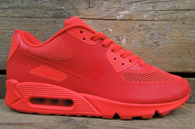 nike air max 90 hyperfuse - solar red & volt yellow basketball