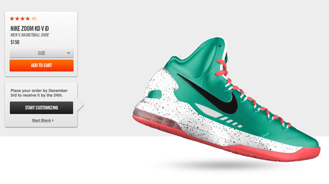 Nike Basketball has yet to debut the Zoom KD V at retail locals but it has  just made the latest Kevin Durant sneaker available for customization  through ...