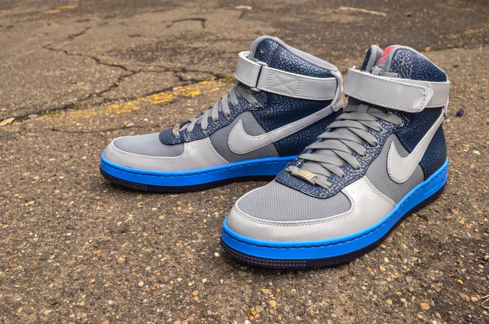 Nike Air Force 1 Downtown Hi | Cool Grey & Blue