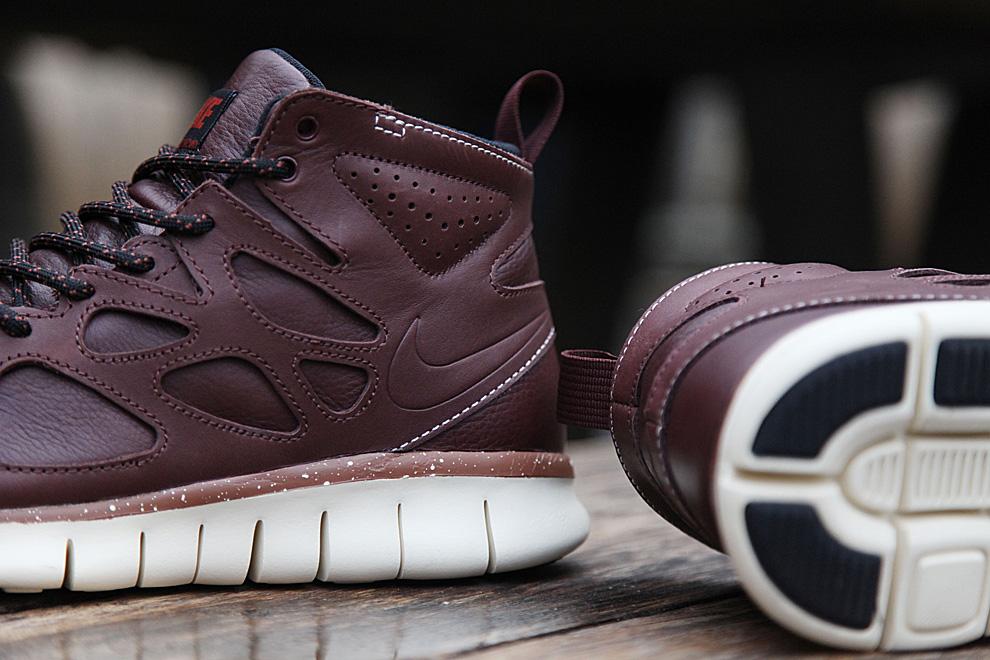 Nike Free Run 2 Sneakerboot Qs Barkroot Brun