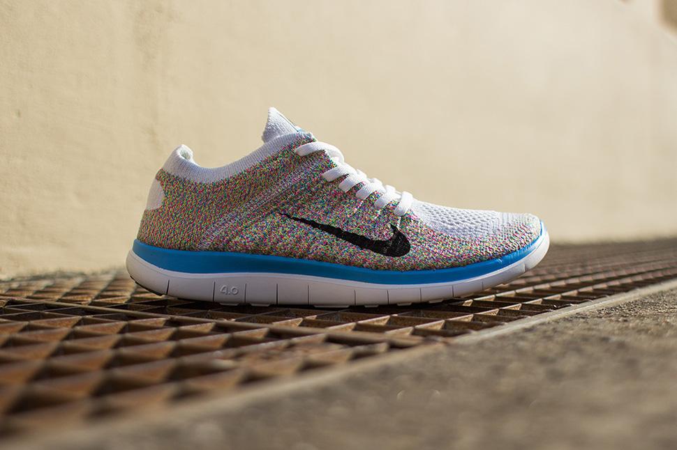 Nike Free Run 4.0 Flyknit De Fondo Multicolor