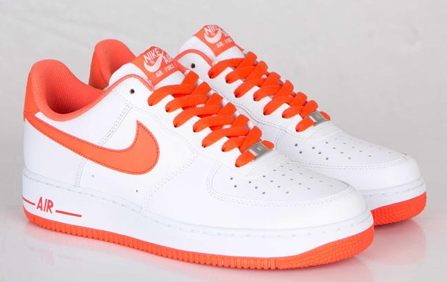 Nike Air Force 1 Low White Turf Orange
