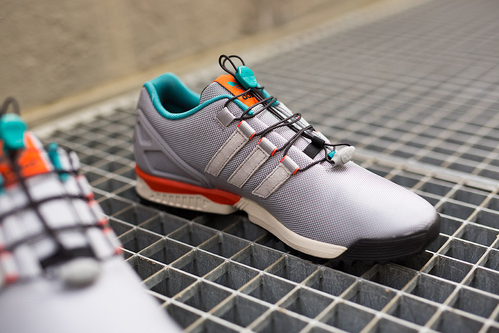 on sale 3962a e9cbe ... adidas ZX Flux Winter Exceptional Adidas Unisex Grey Orange .. ...