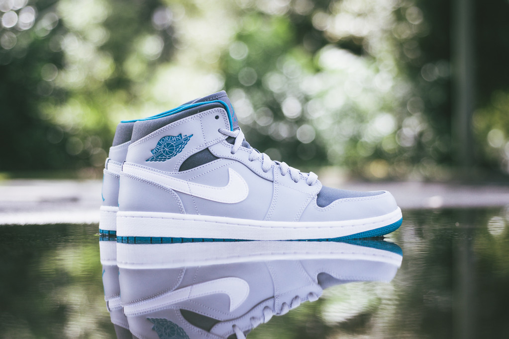 clairance nicekicks Air Jordan 1 Loup Gris Moyen Sarcelle Tropical Foncé Tom Gris Blanc se connecter 9Uk2EwzVzX