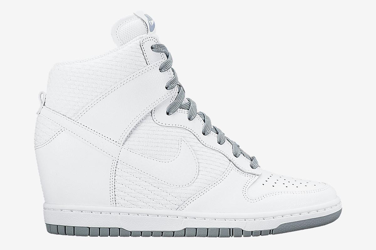 Women's Nike Wmns Dunk Sky Hi Mesh White Dove Grey Sneakers : S98v6772