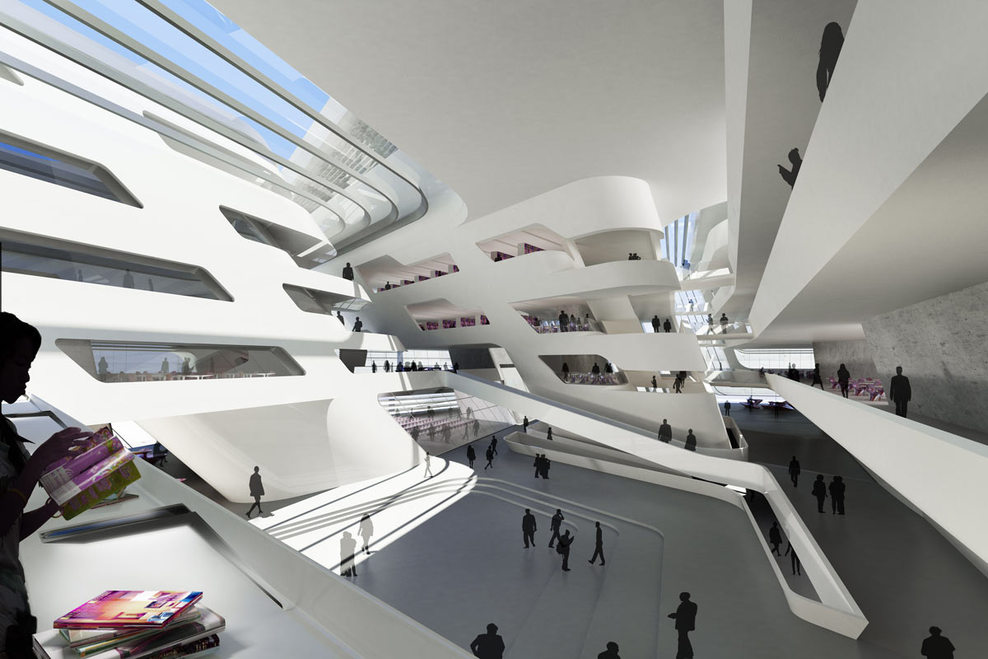 interior perspective, © Zaha Hadid Architects