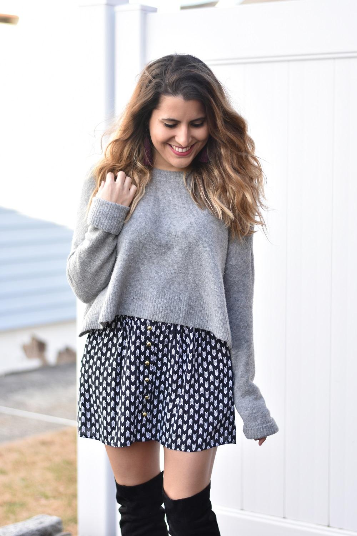 Cropped Sweaters \u0026 Short Skirts
