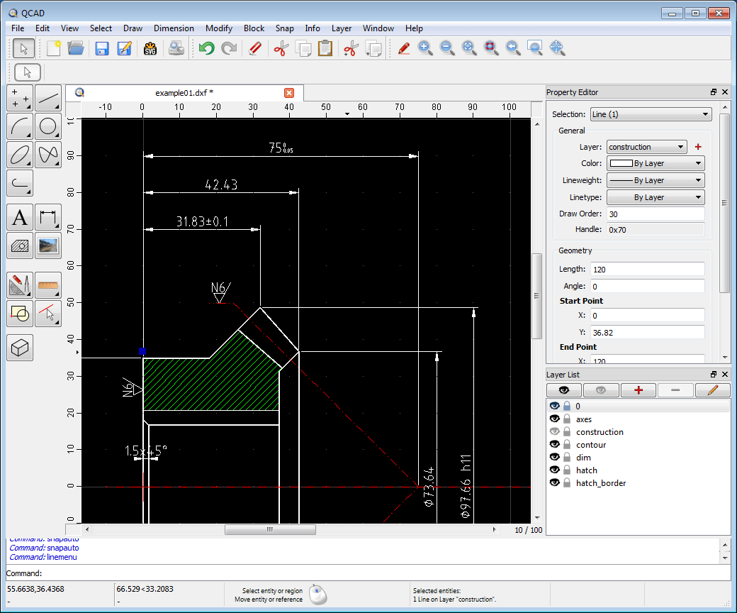 hight resolution of qcad is a good cad for mac software options