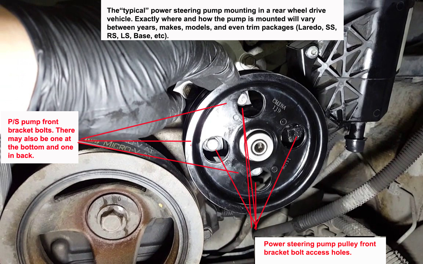 hight resolution of replacing a power steering pump